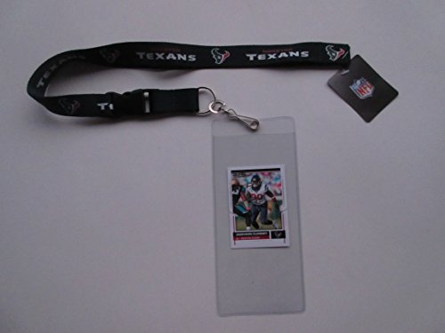 HOUSTON TEXANS LANYARD WITH TICKET HOLDER AND COLLECTIBLE PLAYER CARD