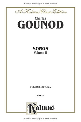 Songs, Vol 2 Medium Voice (French Language Edition) (Kalmus Edition)  (Tapa Blanda)