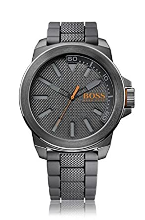 BOSS Orange Herren-Armbanduhr NEW YORK Analog Quarz Silikon 1513005
