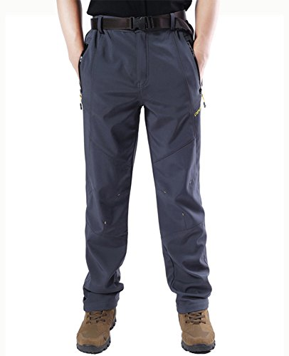 Magcomsen Men's Warm Windproof Mountain Fleece Hiking Snow Ski Pants