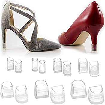 8a6b90dd028ad Heel Hunks Clear-Glass 7 Sizes 7 Pair Set Heel Protectors Replacement Tip  Caps for High Heel Shoes...