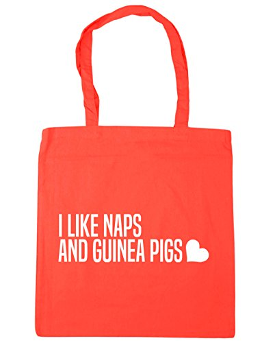 Gym 10 Shopping Tote Guinea Naps And Coral Bag Beach x38cm 42cm Like HippoWarehouse I Pigs litres AwqpOn8Bfx