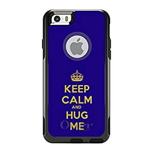 "CUSTOM Black OtterBox Commuter Series Case for Apple iPhone 6 PLUS (5.5"" Model) - Keep Calm and Hug Me"