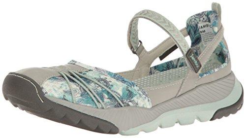 - Jambu Women's Iris-Vegan (Water Ready) Walking Shoe, Light Grey/Green, 8 M US