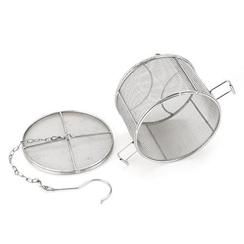 Stainless Steel Spice Seasoning Strainer Tea Ball Strainer Soup Seasonings Seperation Basket Spice Filter Kitchen Tools 5.52 x 3.94 inch (1410cm) ()