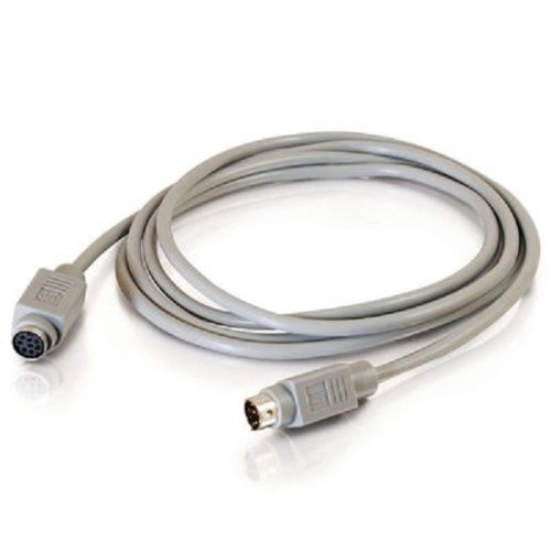 C2G 09569 8-Pin Mini-DIN M/F Serial RS232 Extension Cable, Beige (10 Feet, 3.04 Meters)