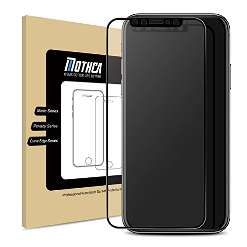 Mothca iPhone X Screen Protector Matte [Full Screen] Anti-Glare & Anti-Fingerprint Tempered Glass 9H Clear Film [Case Friendly][3D Touch ] Bubble Free for iPhone X/10, Smooth as Silk Amazing - From There Scratches Way To Remove Is A Glasses