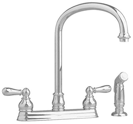 American Standard 4771.732.295 Hampton Kitchen Faucet With Escutcheon  Plate, Satin Nickel