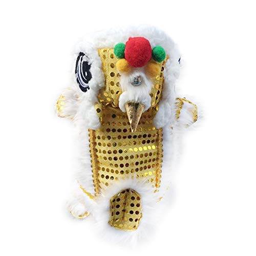 Cute Lion Dance Dog Costume Dragon Clothes,