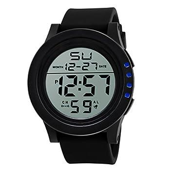 Relojes Hombre Digitales 💝💞 Yesmile Relojes Digitales a Prueba de Agua LED Reloj de Moda de Cuarzo Relojes Militares para Hombres: Amazon.es: Hogar