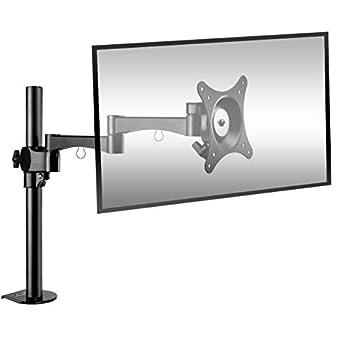 Soporte para Monitor PC, BESTEK Pantalla Plana LED, Monitor para Mesa Giratorio Brazo para Monitor VESA 100x100, Ajuste De 17 A 27 Pulgadas