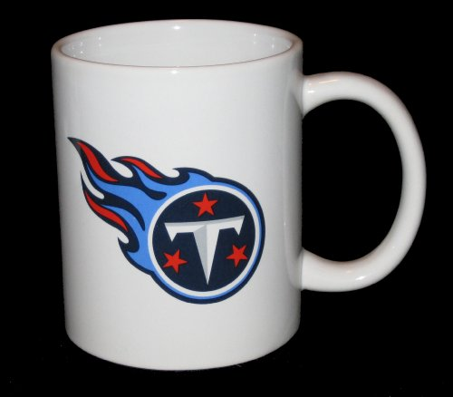 Tennessee Titans NFL 11 oz. Logo White Ceramic Coffee Mug (Tennessee Ceramic Nfl Titans)