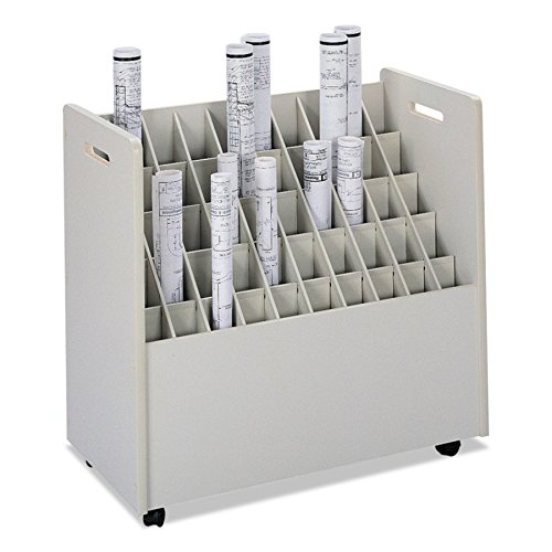 Safco Products 3083 Mobile Roll File, 50 Compartment, - Safco Roll File Mobile