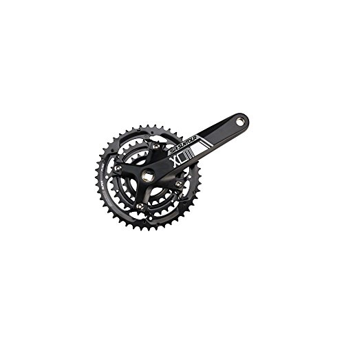SR Suntour Crankset Xcm 9-speed 44/32/22 175mm Square Taper: Black