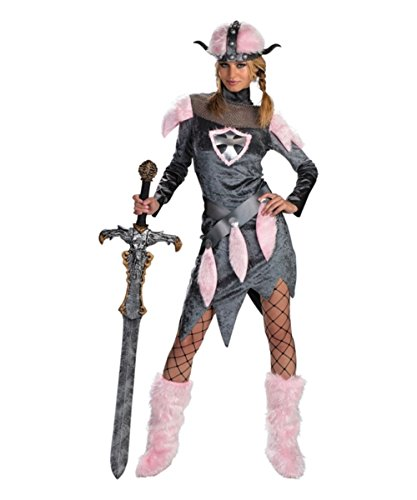(Disguise Unisex Adult Barbarian Babe, Grey/Pink, Large (12-14))