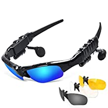 Bluetooth Glasses Headphones, EIISON Wireless Sunglasses Sun Glasses Music Handsfree Headset Headphones for Smart Phone PC Tablet IPHONE6 /6 PLUS Samsung Bluetooth devices Driving Cycling polarized