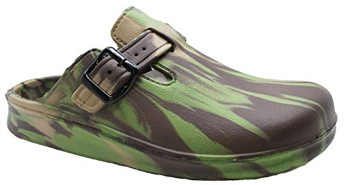 Hey Medical Uniforms Womens Buckle Lightweight EVA Clogs Camouflage 5izPW