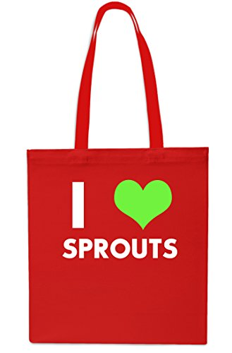 Red Bag litres Grey 10 Tote Shopping Beach Love Christmas I Sprouts x38cm 42cm Gym U7Z0wOn