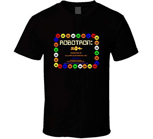 - Robotron Start up Screen t-Shirt Cool Retro Video Arcade Game t-Shirts top 20 Retro Games t-Shirts 3XL Black
