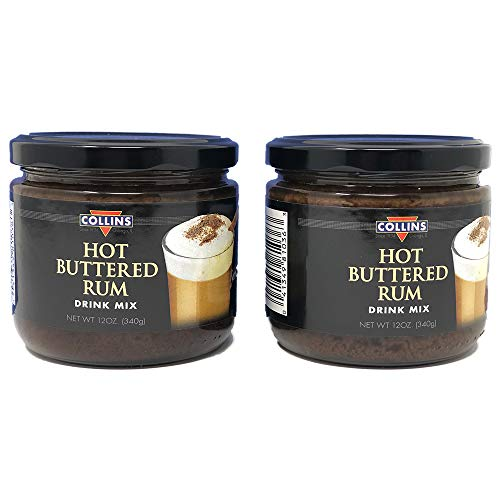 Collins Hot Buttered Rum Drink Mix (Pack of 2)