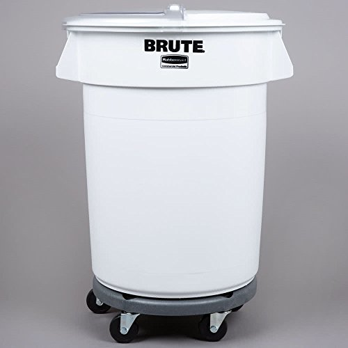 TableTop King Brute 32 Gallon Ingredient Storage Bin and Dolly Kit with 4 Cup Measuring Scoop by TableTop King
