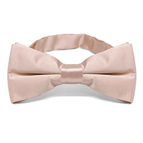 TieMart Blush Pink Band Collar Bow Tie