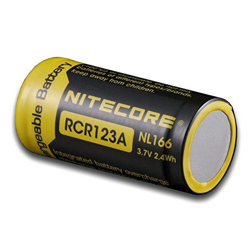 Nitecore NL166 Rcr123A Li-Ion Battery for TM11/TM15/EC1/EC2/MT2C/MT25/MT26/MT40