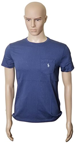 Ralph Lauren Men's Pony Logo T-Shirt with Pocket Classic Fit (ObsBlue, M) (Ralph Pocket Lauren T-shirt)