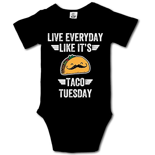 Haibaba Live Everyday Like It's Taco Tuesday (2) Infant Climbing Short-Sleeve Jumpsuit