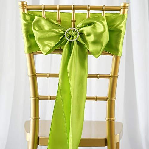 Mikash 25 New Satin Chair Sash Bows Ties Wedding Bridal Party Supplies Decorations Sale | Model WDDNGDCRTN - 10264 |