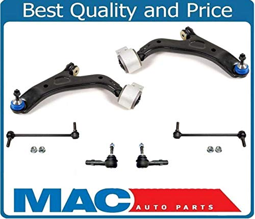 Mac Auto Parts 160034 (2) Lower Control Arm With Bushings & Ball Joint Tie Rods 6Pc for 10-17 Taurus Flex