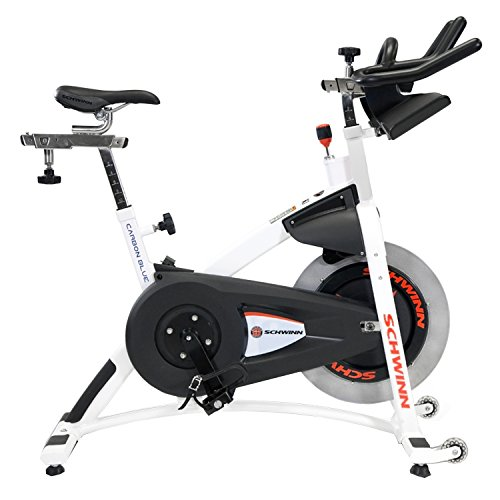 Schwinn A.C. Sport Indoor Bike with Carbon Blue Belt Drive and Morse Taper - White