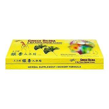 Asian ginseng and ginkgo biloba
