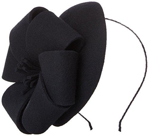 San Diego Hat Company Women's Derby Dress Wool Felt Fascinator Hat with Bow Detail, Black, Total Units