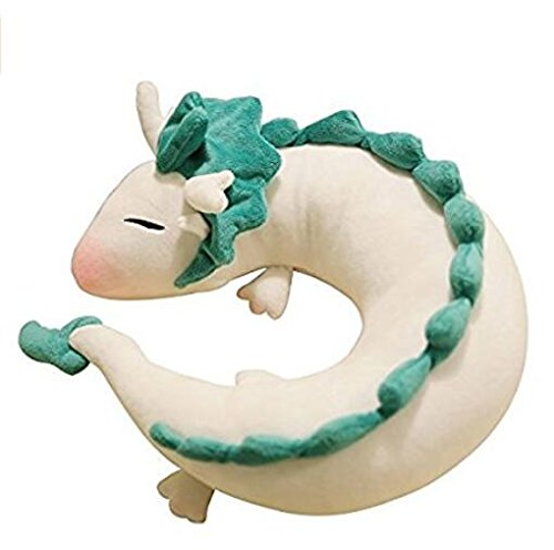 Dragon Airplane - Cute Little White Dragon U-shaped pillow neck pillow Japanese animation by U-shape pillow