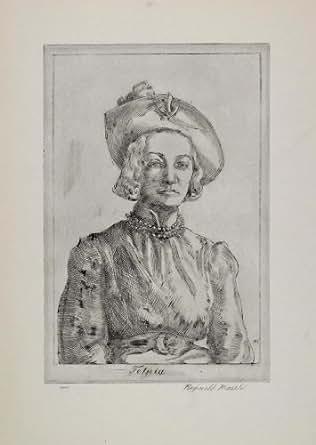 1939 Reginald Marsh Felicia Meyers Portrait Artist - Original Halftone Print