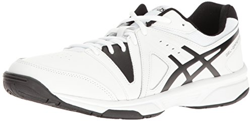 ASICS Men's Gel-Gamepoint Tennis Shoe White/Black 7 M US