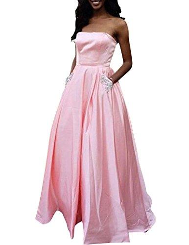 Vestido Aiyana trapecio mangas Sin mujer para Rosa AqwqxS