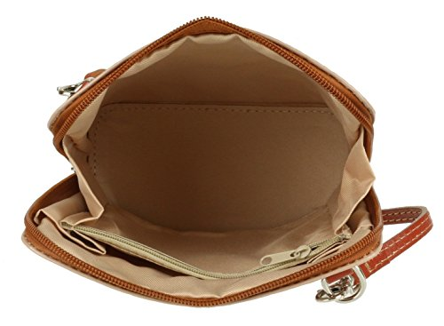 Bag Genuine Leather Light Pelle Shoulder Vera Mini Cross Body Handbag Tan or Bag Italian Small xOrw5qYr