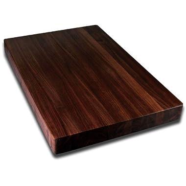 Kobi Blocks Walnut Edge Grain Butcher Block Wood Cutting Board 18  x 24  x 2