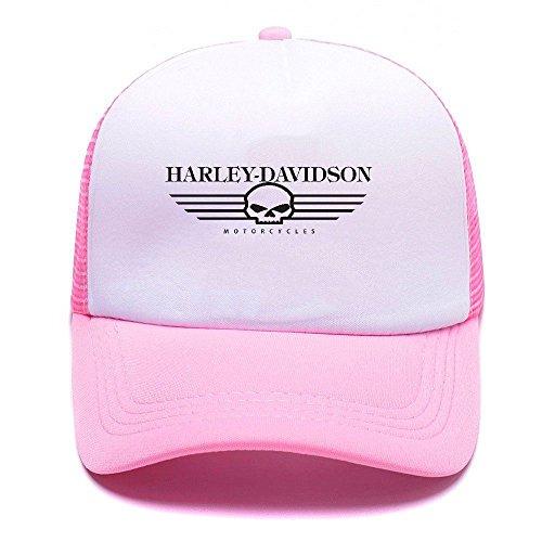 Harley D Black Baseball Caps Gorras de béisbol Trucker Hat Mesh Cap For Men Women Boy Girl 012 Pink