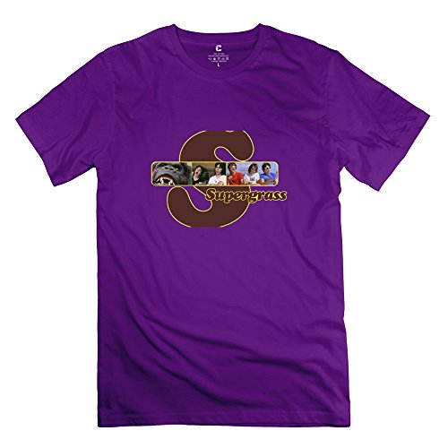 Crystal Mens Supergrass Blank Design T Shirt Purple Us Size Xl