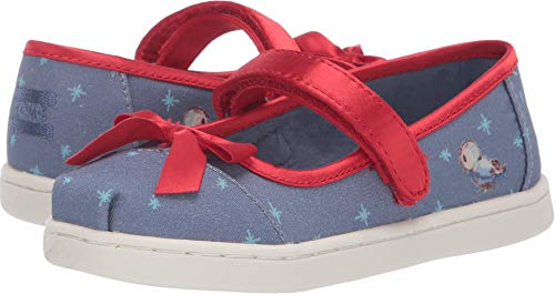 TOMS Kids Baby Girl's Mary Jane Disney¿ Princesses (Infant/Toddler/Little Kid) Blue Snow White Printed Canvas/Bow 9 M US Toddler -