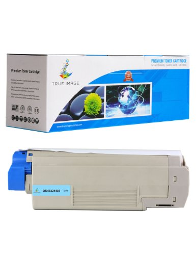 43324403 High Yield Toner (TRUE IMAGE OK43324403 Toner Cartridge Replacement for OKI 43324403, Cyan)