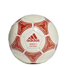 adidas Conext 19 Capitano Soccer Ball, Raw White/Active Red/Raw Sand, 3