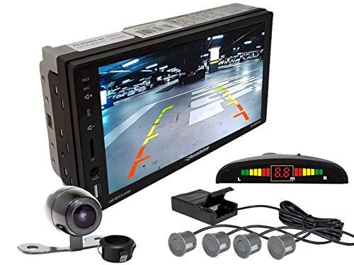 Multimidia Mp5 RS-505MP5 Com Câmera De Ré RS-121BR E Sensor De Estacionamento RS-104BR CINZA