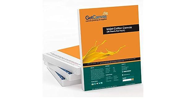A2 - Láminas de lona para impresión de inyección de tinta (100% algodón): Amazon.es: Hogar