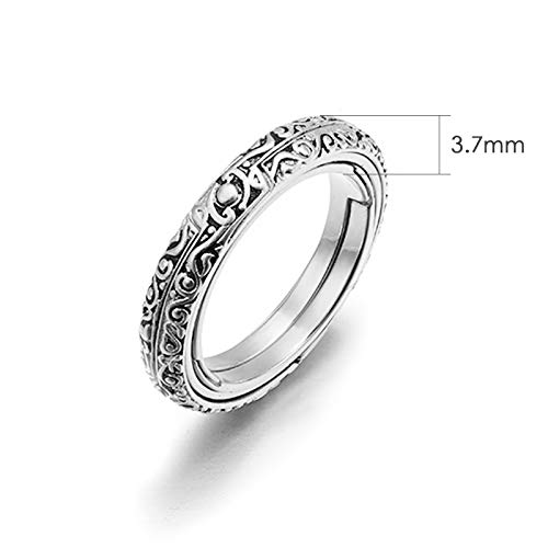 XIANGMENG Luxury 100/% 925 Silver Astronomical Sphere Ring That Folds Out to an Astronomical Ball Ring All Size Provided Luxury Hand-Carved|Close is Love,Open is The World,Best Gift Choice
