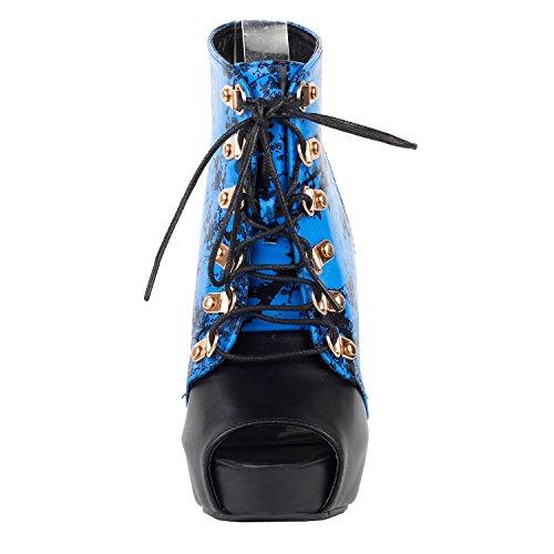 tinta LF30101 encaje Azul Mostrar y de lavado bambú sandalia negro y china azul historia botín Gladiator aw5qF5p