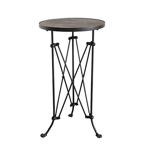 Creative Co-op DA7520 Metal Table with Pine Wood Top, 25